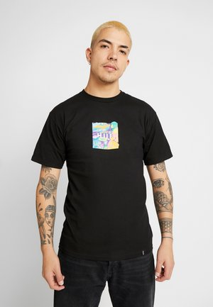 COMICS BOX LOGO TEE - Print T-shirt - black