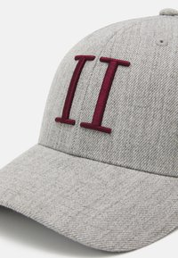 Les Deux - ENCORE BASEBALL - Cap - light grey melange/burgundy - 5