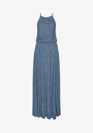 Maxi dress - blau marine / bedruckt