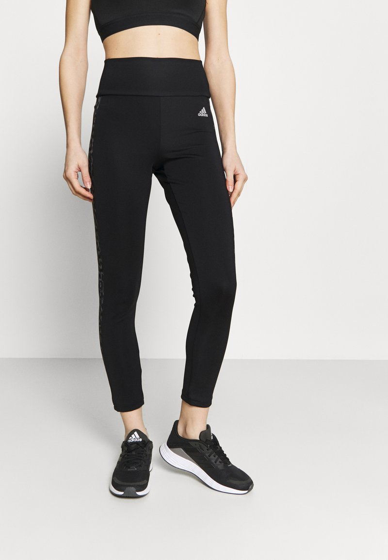 adidas Performance - BELIEVE THIS 2.0 LACE AEROREADY WORKOUT COMPRESSION 7/8 LEGGINGS - Tights - black/grey four