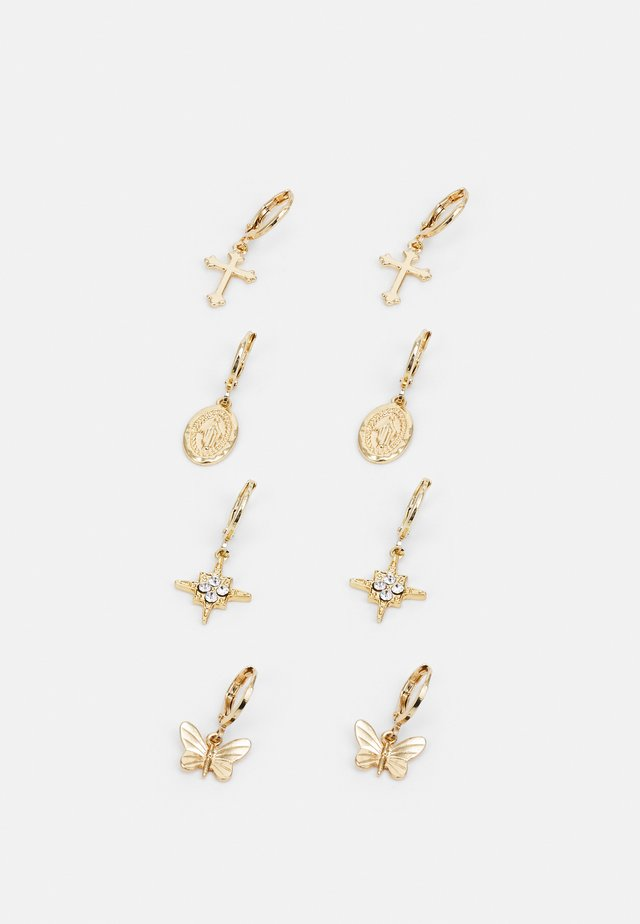 EARRINGS 4 PACK - Boucles d'oreilles - gold-coloured
