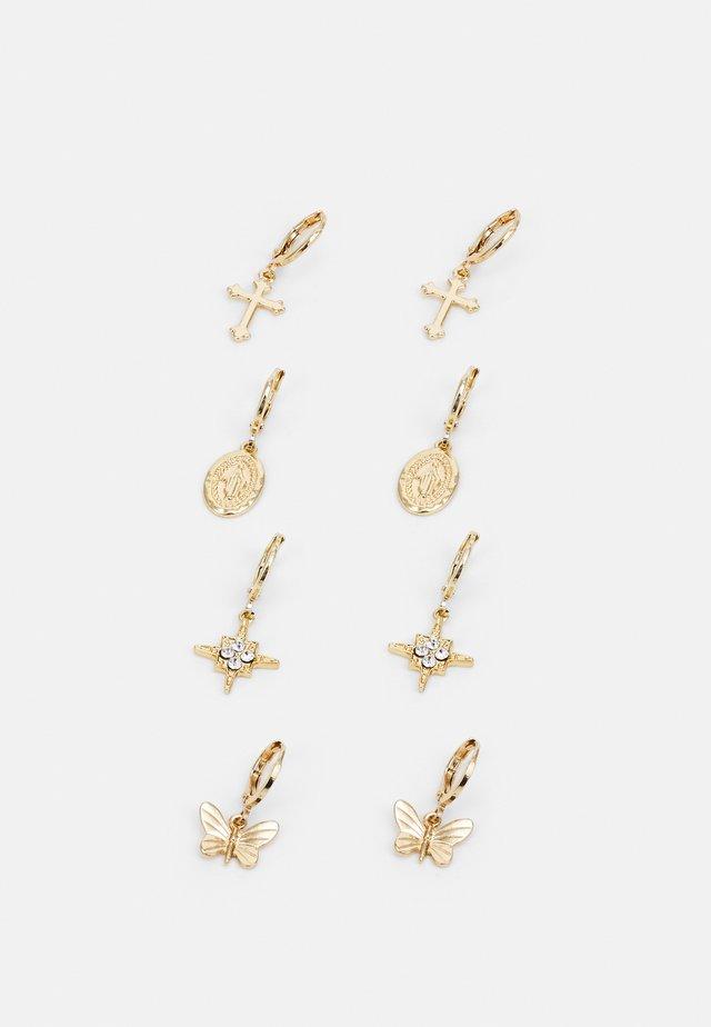EARRINGS 4 PACK - Korvakorut - gold-coloured