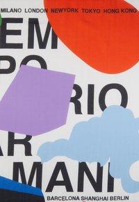 Emporio Armani - FOULARD GRAPHICS BLOCK - Šátek - white/multi - 2