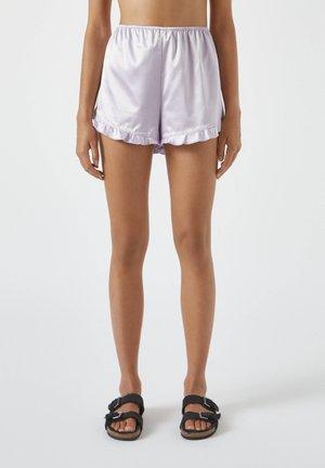 MIT VOLANT - Pyjama bottoms - mauve