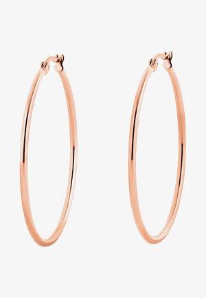 CREOLE MIT CLIP - Earrings - rosegoldfarben