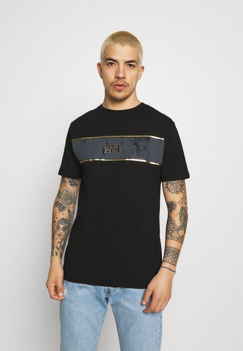 274 - REVOLT TEE - Print T-shirt - black
