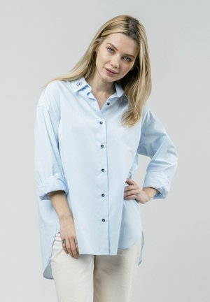 TILE ESSENTIAL - Button-down blouse - blue