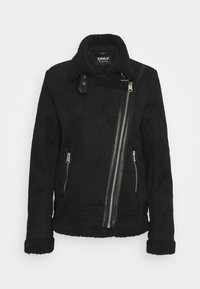 ONLY Tall - ONLDIANA BONDED AVIATOR JACKET TALL - Faux leather jacket - black - 0