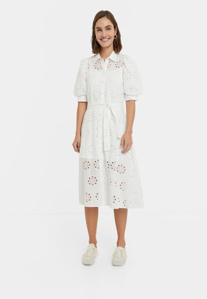 NORIA - Shirt dress - white