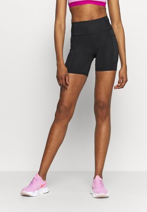 LOVE YOU A LATTE BIKE SHORT - Medias - black