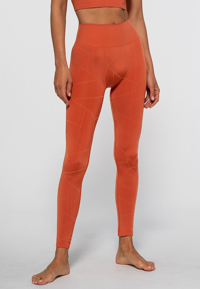 SHIELD SEAMLESS - Collants - orange
