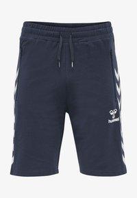 Hummel - Sports shorts - blue nights - 3