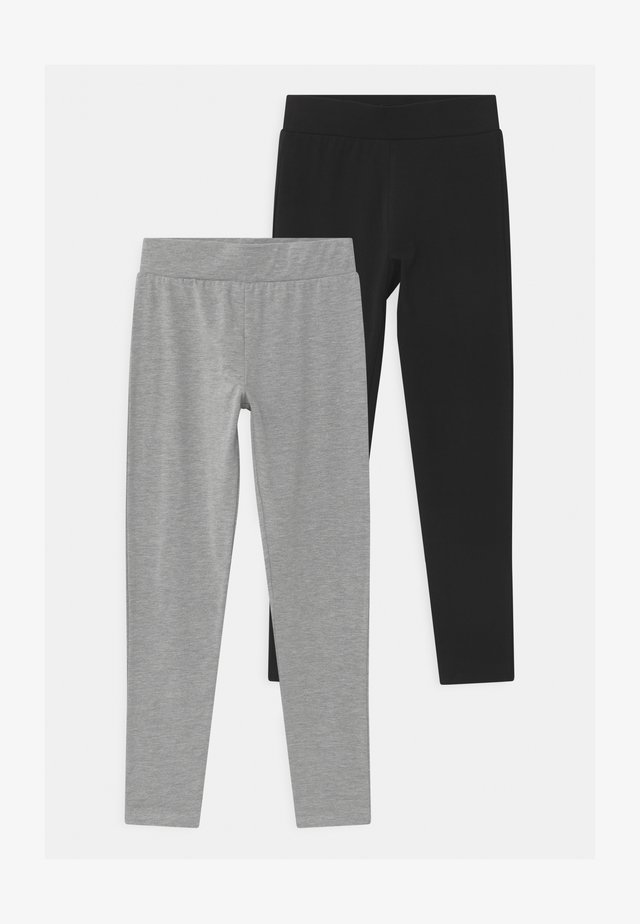 BASIC 2 PACK - Leggings - black/dark grey