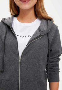 DeFacto - Zip-up hoodie - anthracite - 2