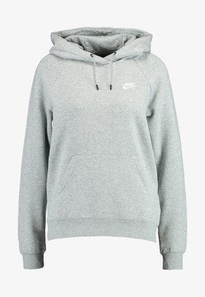 HOODIE - Hoodie - dark grey heather/white