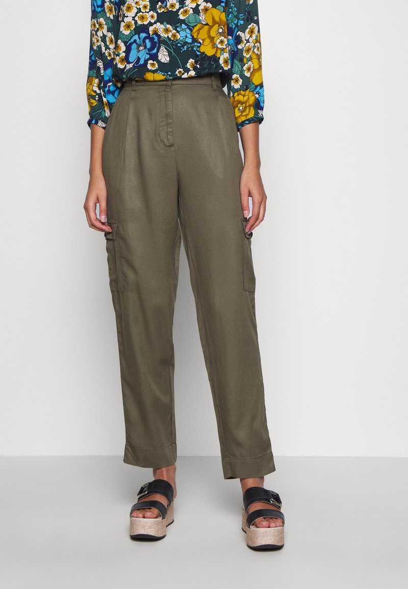 Moss Copenhagen - MAIRA ROSANNA PANTS - Bukse - kalamata