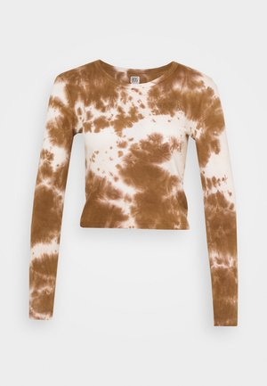 TIE DYE BABY TEE - Camiseta de manga larga - brown