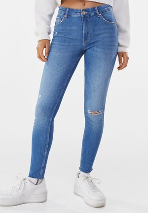 LOW WAIST PUSH UP - Jeans Skinny Fit - blue