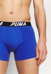 Puma - SPACEDYE STRIPE BOXER 2 PACK - Onderbroeken - blue/orange - 5