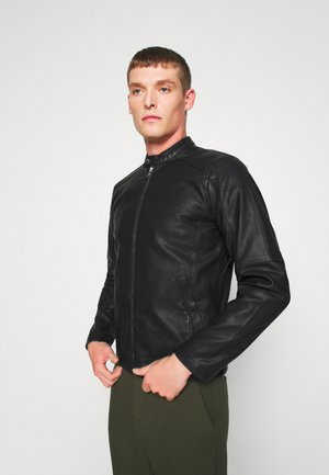 LAURI - Faux leather jacket - black