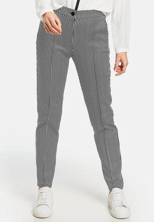 MIT MINIDOTS - Trousers - ecru / white / black print