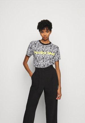 T-shirt imprimé - white/black