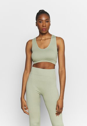 NECK CROSS BACK - Top - dessert sage
