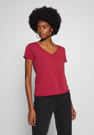 SHORT SLEEVE VNECK - Basic T-shirt - rusty red