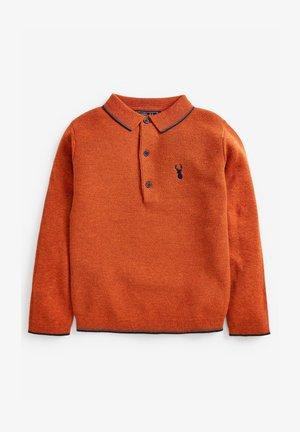 KNITTED TEXTURED - Longsleeve - orange