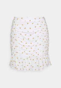 Hollister Co. - CINCH SKIRT - Mini skirts  - white - 1