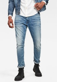 G-Star - D-STAQ 3D SLIM - Slim fit jeans - vintage striking blue - 0