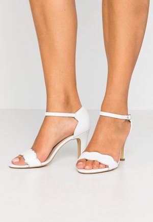 LEATHER - High Heel Sandalette - white