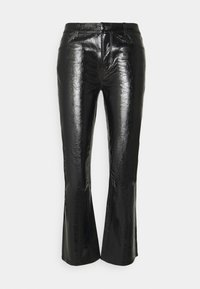 J Brand - FRANKY HIGH RISE CROP  - Bootcut jeans - patent black - 6
