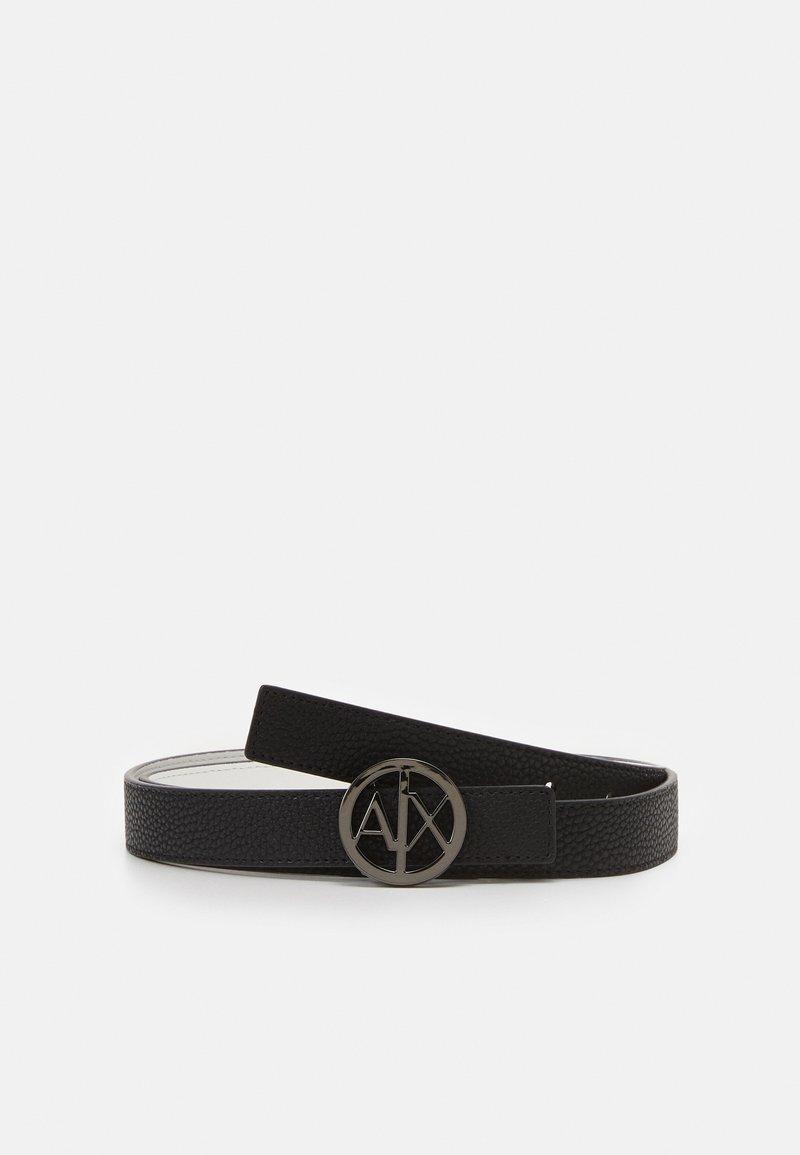 Armani Exchange - BELT WOMANS BELT - Belt - black/white