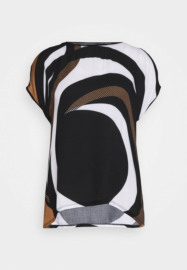 MASSTAB - Blusa - black/cream