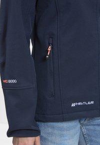 Whistler - Covina MIT WASSERDICHTER ZWISCHENMEMBRAN - Soft shell jacket - navy - 4
