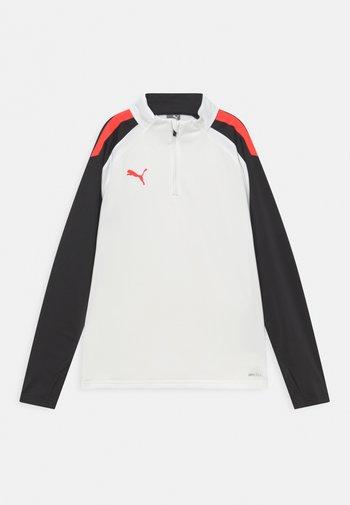 TEAMLIGA UNISEX - Top sdlouhým rukávem - puma white/red blast/puma black