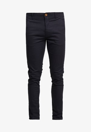 BHNATAN PANTS - Chinos - dark navy blue