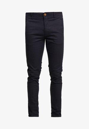 BHNATAN PANTS - Chino kalhoty - dark navy blue