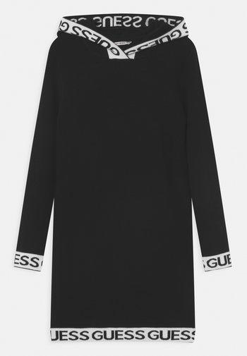 JUNIOR HOODED - Jumper dress - jet black