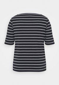 Lauren Ralph Lauren Woman - JUDY ELBOW SLEEVE - Basic T-shirt - lauren navy/white - 1