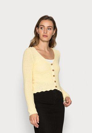 CARDIGAN GRACE - Cardigan - light yellow
