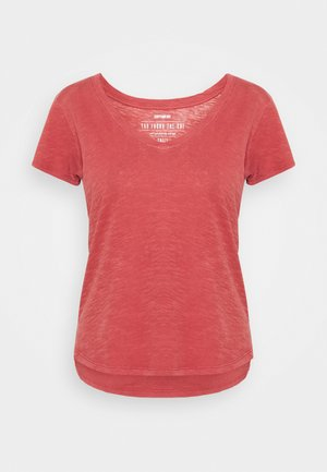 THE DEEP  - Basic T-shirt - washed mineral red