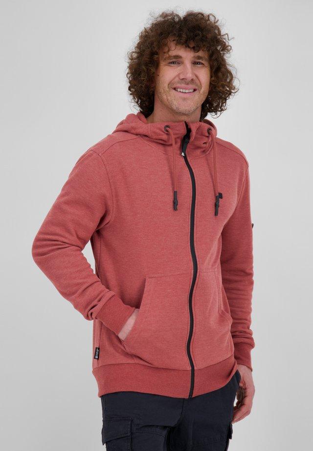 veste en sweat zippée - clay