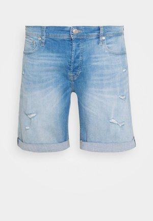 JJIRICK JJORIGINAL - Denim shorts - blue denim
