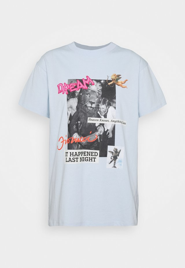 FIORUCCI DREAM - T-Shirt print - light blue