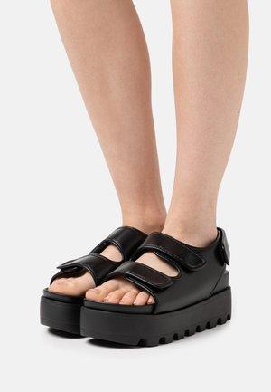 HUGO - Platform sandals - black