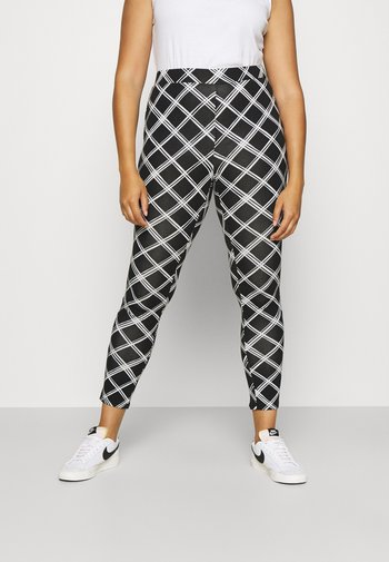 CHECK - Leggings - Trousers - black