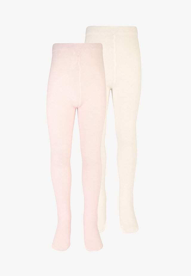 BASIC 2 PACK - Tights - rose/white