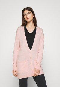 Abercrombie & Fitch - ICON CARDI - Cardigan - light pink - 0